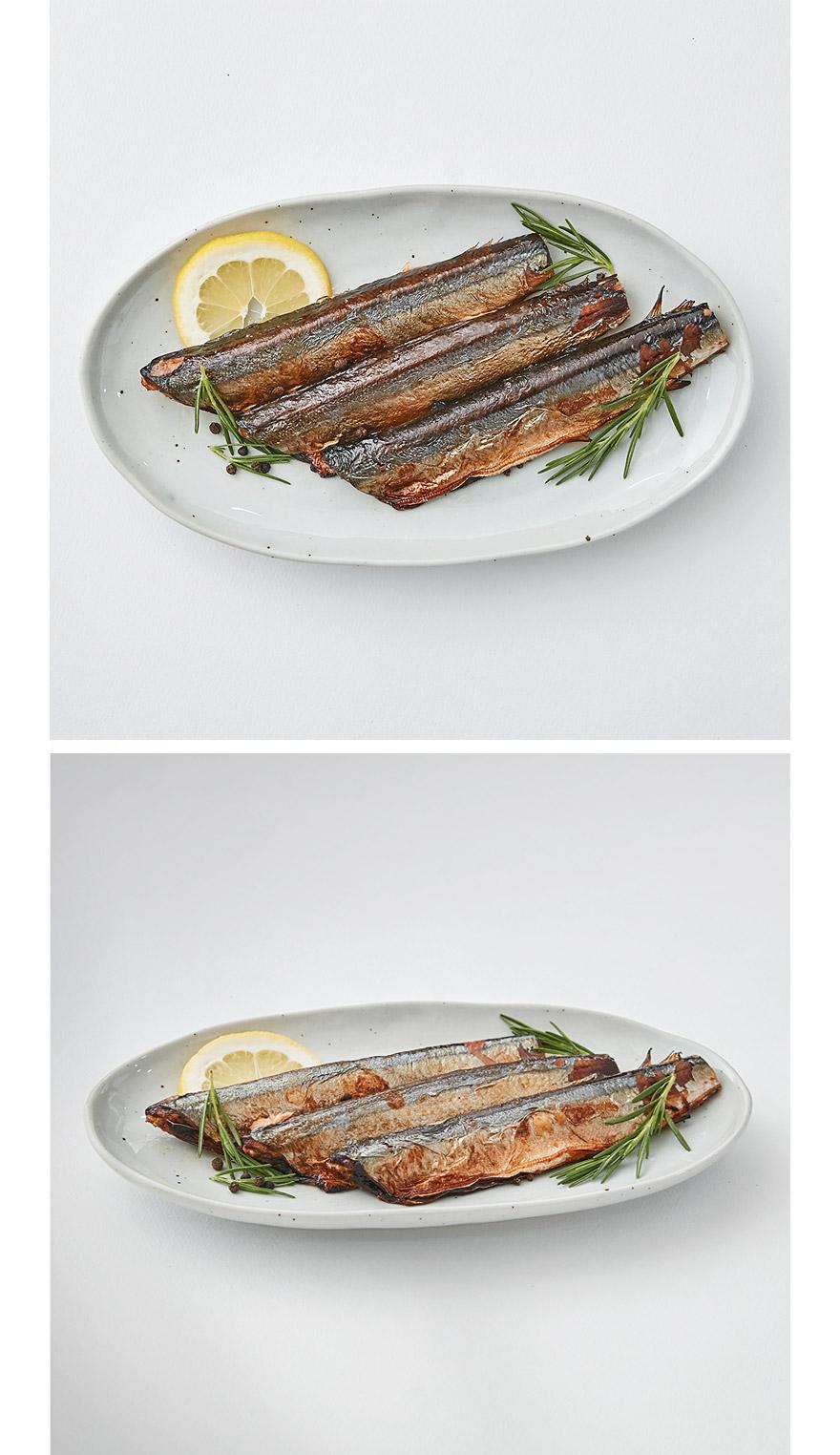 간편 꽁치구이 꽁치는 영양도 풍부하고 대중적인 등푸른 생선 중 하나에요 . 맛있는 꽁치를 집에서 간편하게 드실 수 있도록 준비했습니다. '간편 꽁치구이'는 전자렌지, 에어프라이어 등 다양한 조리도구를 이용해서 짧은 시간 안에 생선구이를 드실 수 있어요.