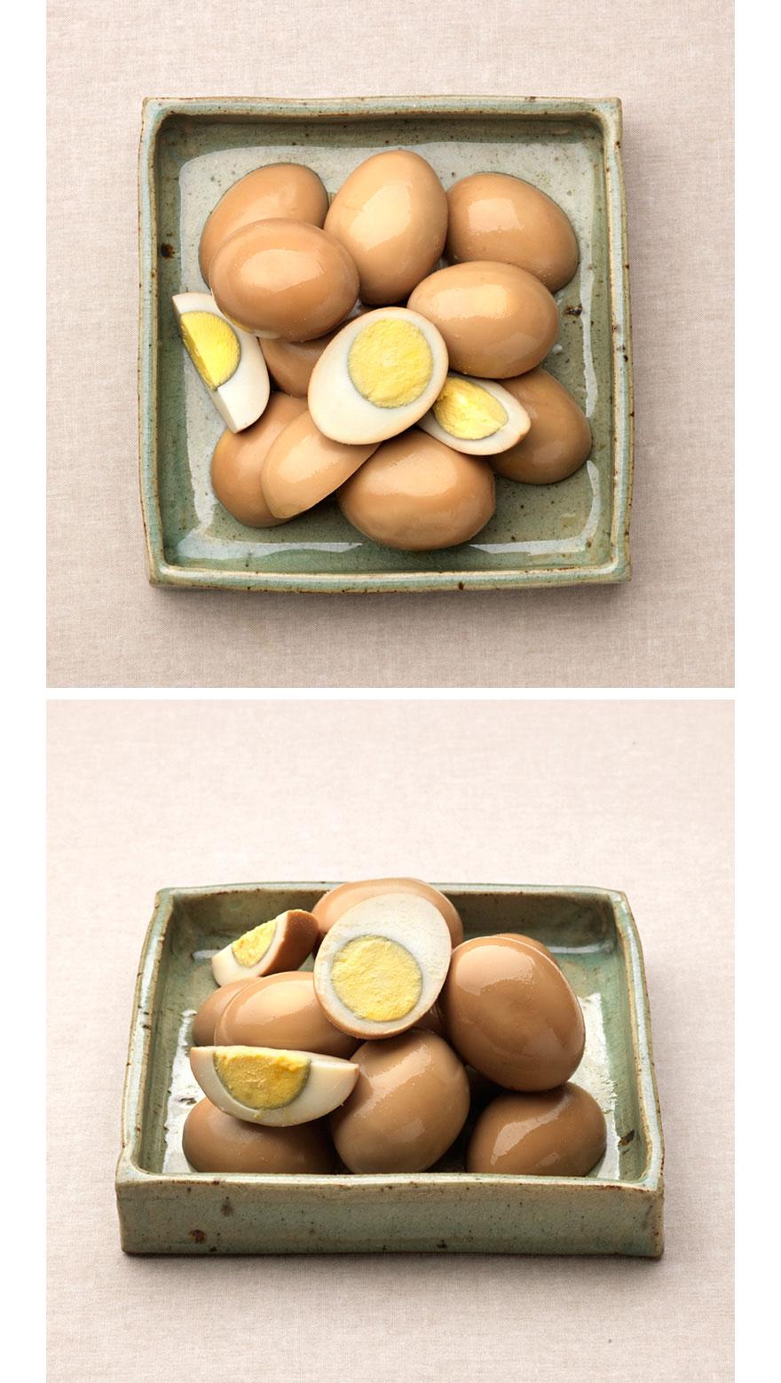 계란 간장조림 집에서 간단히 만들 수 있겠다는 생각에 여러 번 도전했지만 실패한 계란 간장조림. 계란을 삶고, 황금비율의 집반찬연구소 간장소스에 졸이는 과정이 생각보다 까다롭고 오래 걸리더라구요. 계란 겉부분 뿐만 아니라 속까지 양념이 스며들어 밥과 먹기 딱 좋게 만들었어요.