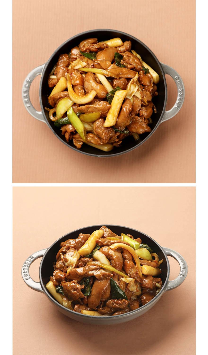간장 닭갈비 집반찬연구소 인기 메뉴인 닭갈비를 아이들과 함께 맛있게 즐기실 수 있도록 간장양념으로 준비했습니다. 간장 닭갈비는 달콤 짭쪼름한 맛이 강하지 않고 순해서 어른뿐만 아니라 아이들도 정말 좋아해요. 순살 닭고기를 사용해 따로 뼈를 바르는 수고를 하지 않아도 됩니다. 조리시에는 고기를 먼저 익힌 후 야채를 넣고 함께 볶아주세요. 양배추와 양파 등 야채의 식감을 살리면 더욱 맛있게 즐길 수 있습니다. *순살닭고기 320g 기준입니다.