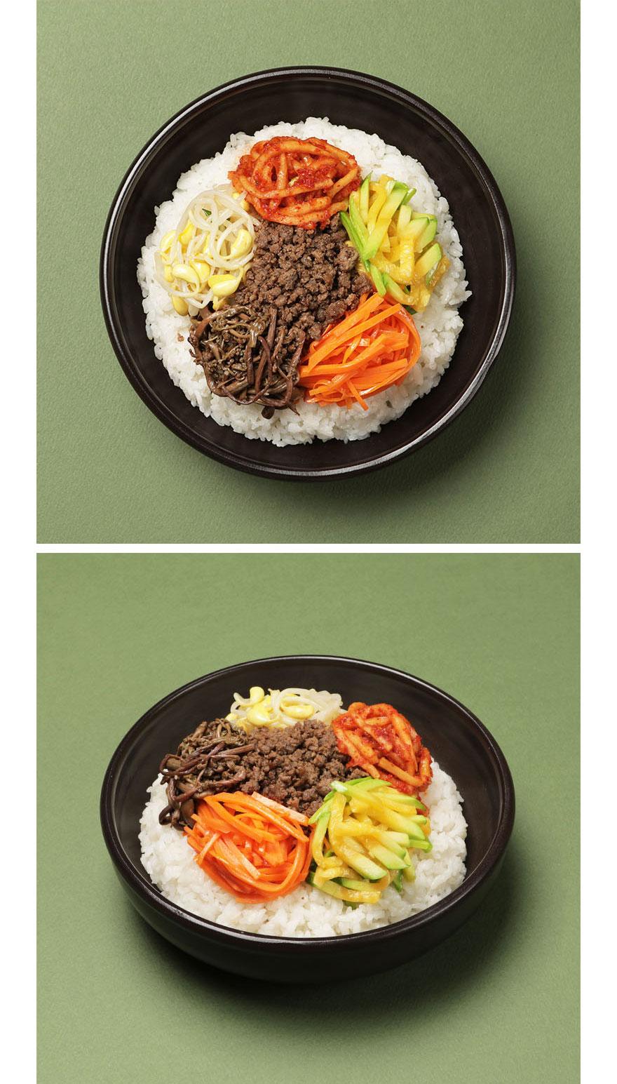 한우소고기 비빔나물 비빔밥은 가장 한국적인 대표 음식 중 하나인데요. 각 재료가 가진 고유의 맛들이 조화롭게 어울리는 점이 매력 포인트. 한우소고기 비빔나물 한 가지로 간단하게 균형 잡힌 식사를 할 수 있습니다. 다진 소고기 볶음, 고사리, 무생채, 콩나물, 당근, 애호박 무려 6종 구성으로 알차게 즐기세요. *밥과 고추장은 따로 준비해주세요. *기호에 따라 달걀 프라이를 추가하셔도 좋습니다.